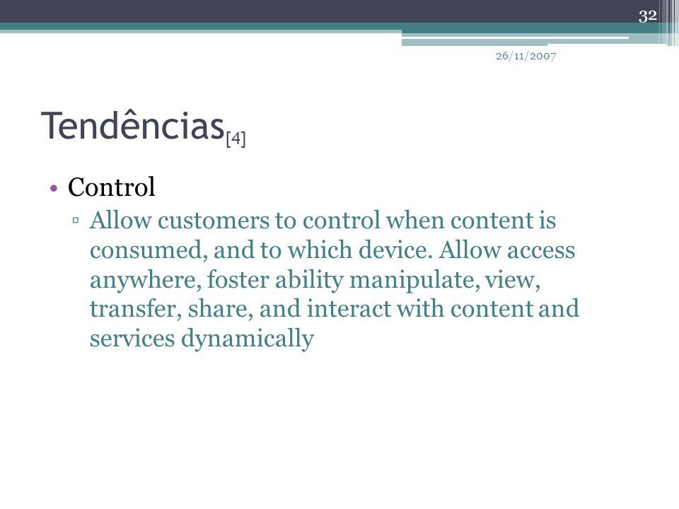 26/11/2007 Tendências[4] Control.